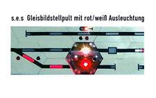 s.e s 01 0000 04: Schnupperangebot Gleisbildstellpult s.e.s mit LED rot/weiß