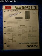 Sony Service Manual SAVA 700 /SS T100 Active Speaker System (#4372)