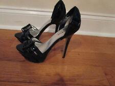 bebe shoes belinda size 8 black pre-owned