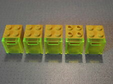 Lego - 5 Yellow & Trans-Yellow Container / Post / Mail Boxes 2x2x2 (4345 4346)
