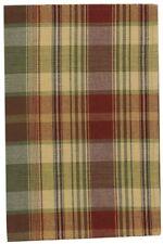 Farmhouse Saffron Dishtowel Country Red Sage Green Golden Tan Plaid Cotton