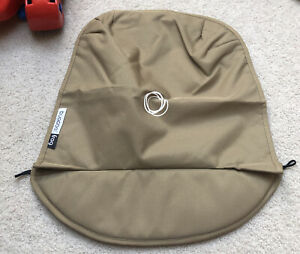 Bugaboo Frog Stroller baby Apron Tan canvas Fabric cover Carry Hood Sand Beige