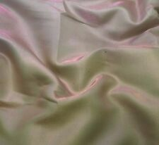 Faux Silk CHARMEUSE Satin Fabric IRIDESCENT PINK GREEN 1/4 Yard remnant