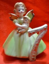 Vintage Josef Original Birthday Girl Angel - Age 7- Holding Babydoll Black eyes