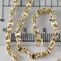 Armband Gelbgold Oder Weiß 750 - 18K, 21 CM, 3 MM, Marinara Steg, Italien