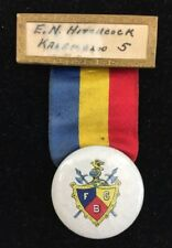 Vintage Knights of Pythias FCB Badge Ribbon E.N. Hitchcock Kalamazoo Mich 3337F