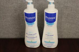 Pack of 2 -Mustela Gentle Baby Cleansing Gel Hair & Body 25.35 fl. oz. Each