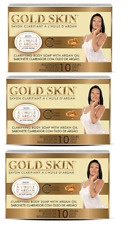 Gold Skin Clarifying Body Soap with Argan Oil Lot of 3