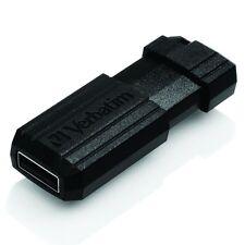 New Verbatim 128GB Pinstripe USB Flash Drive Memory Stick Pen 10MB/s - Black
