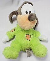 "Disney Parks Baby Goofy Rattle Plush 11"" Stuffed Animal with Rattle"