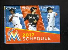 Miami Marlins--2017 Pocket Schedule--Pepsi Water Brands--Stanton/Ozuna/Yelich