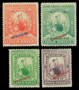 "PERU 1899 UPU - LIBERTY & P.Due sets w/ABNC ""SPECIMEN"" Sc# 158-9 J34-35 mint MNH"