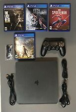 Sony PlayStation 4 Slim 1TB Console - Jet Black - With 4 Games