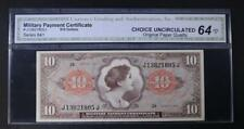New listing Series 641 $10 Military Payment Certificate Lot 120