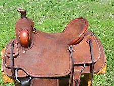 """16"""" Johnny Scott Ranch Roping Saddle (Made in Texas) Roper"""