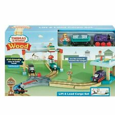 Thomas & Friends Wood Lift & Load Cargo Train Track Set NEW