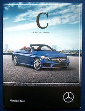Prospekt brochure 2017 Mercedes C-Class Cabriolet (USA)