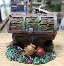 Aquarium air action treasure chest  fish tank ornament