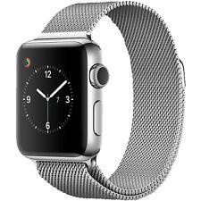 APPLE Watch Series 2, Smart Watch, Edelstahl Milanese Armband, 38 mm, Silber/Sil