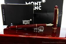 MONTBLANC Burgundy 144R Fountain Pen 14k gold Two Tone (M) Nib -Uninked-NEW!