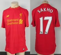 Match issue shirt Liverpool 2016-17 pre-season home soccer jersey Sakho 17