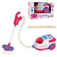 Kids Role Play Vacuum Cleaner Hoover Realistic Toy Red with Lights & Sounds