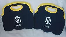 (2) San Diego Chargers Coca Cola Neoprene 6 Pack Holders Coke Beer Water