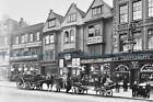 F002056 Horse drawn vehicles and barrows in Borough High Street. London. 1904