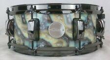 Click Drums Custom 5x12 Blue Plasma Wrap 10ply Maple Snare Drum