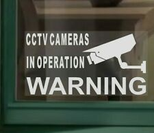 5 x SMALL CCTV Cameras In Operation Security Warning Camera Sign Window Stickers