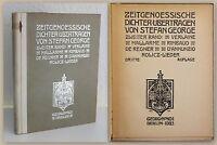 George Zeitgenössische Dichter 2.Bd Verlaine Mallarme u.W. 1923 Gedichte xz