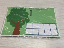 Apple Tree Count - Dry Erase - Laminated Activity Set - Teaching Supplies