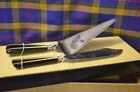 Vintage AUG HAERING Celluloid Handled Cake Knife & Server-Solingen, Germany