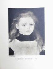 Pierre Auguste Renoir Heliogravure Limited Portrait de Mademoiselle B 1921