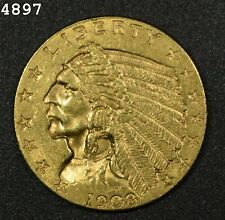 "1908 $2.50 Indian Head Gold Quarter Eagle ""AU++"""