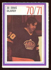 1970-71 ESSO POWER PLAYERS NHL #30 DENIS DEJORDY NM L A KINGS  UNUSED STAMP