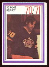 1970-71 ESSO POWER PLAYERS NHL #30 DENIS DEJORDY NM L A KINGS  UNUSED STAMP