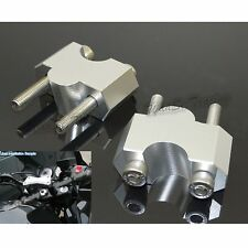 Argentoadattatori manubrio riser bar rialzi 30mm per KAWASAKI Z1000 07-09 Z750