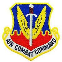 """UNITED STATES  AIR FORCE  """"AIR COMBAT COMMAND"""" PATCH   3""""  x 3"""""""