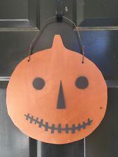 Handmade Wood Pumpkin Halloween Door Decoration