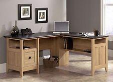 Sauder Furniture 412320 August Hill Home Office Computer L Shaped Desk Oak