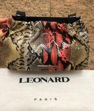 Limited Edition Leonard Paris Snakeskin Bag