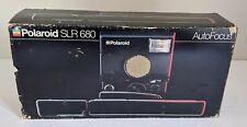 Polaroid SLR 680 AutoFocus Instant Camera W/ Original Box UNTESTED For Parts