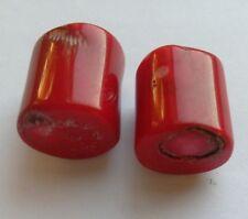 2 ramo di ottima qualità perline di corallo, rosso. 15mm/17mm Gioielli/Perline