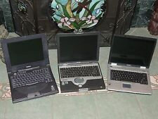 Lot of 3 Old Laptops FOR PARTS or REPAIR Good Screens/Keyboards Dell HP Toshiba