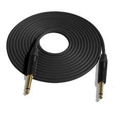 15' Mogami W2524 Guitar Black Cable w/Neutrik NP2X-B-S-S, Gold Contracts
