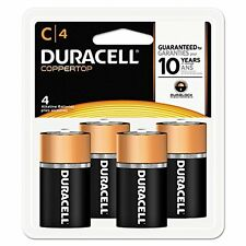 4 Pack Duracell Coppertop Size C Alkaline Battery 4 Count Each