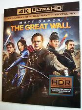 The Great Wall w/Slipcover (4K Ultra HD, Blu-ray, DIGITAL) Matt Damon