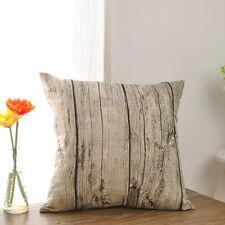 Wood Grain Cotton Linen Pillowcase Car Chair Sofa Home Decoration Cover