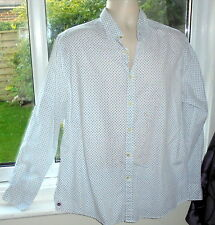 SALE HALF PRICE St George Duffer shirt white pattern cotton reg single cuffs 15""